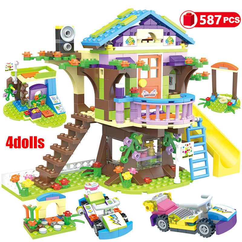 868 個ビルディングブロック友情家互換性積層した少女の友人子供のおもちゃ GB08