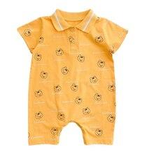 Комбинезон для детей комплект летней одежды для новорожденных, одежда из хлопка для малышей, с короткими рукавами, детские комбинезоны для ...