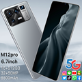 Global Version M12pro 6.7Inch Smartphone 16G+512G ROM 6800mAh Large Battery Android Full Display Dual SIM 4G/5G Call Phone
