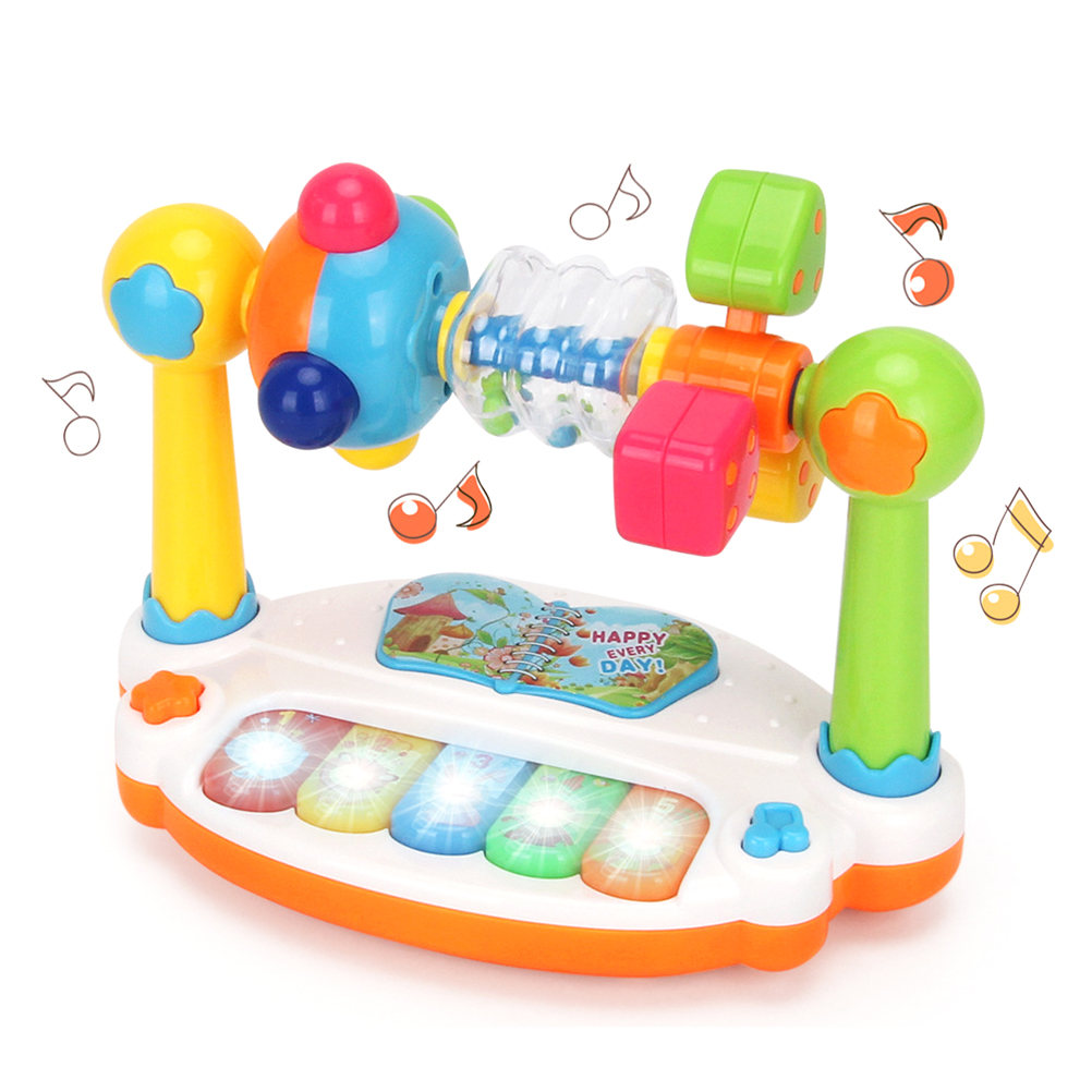 Baby Kids Musical Keyboard Piano Drum Baby Musical Toy With Music And Lights Early Educational Development Children Toys