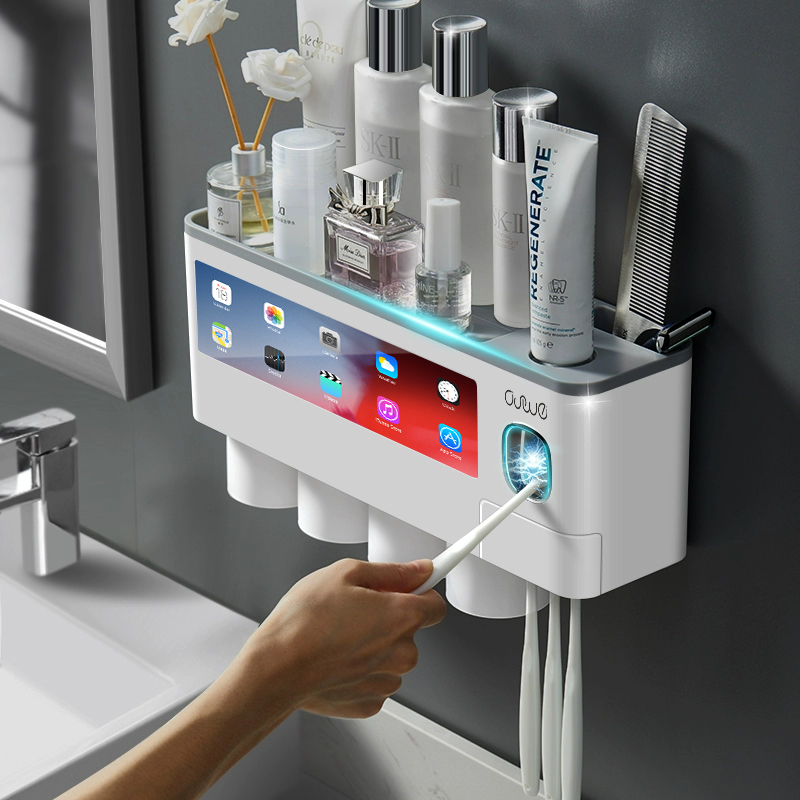 Magnetic Adsorption Toothbrush Holder Bathroom