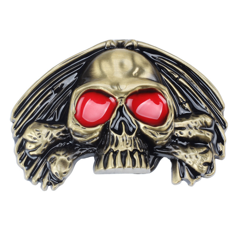 Skull Skeleton Belt Buckle Belt DIY Accessories Western Cowboy Style Smooth Belt Buckle Punk Rock Style K31