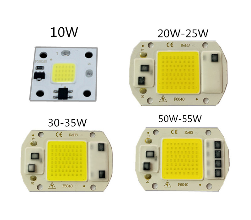 20PCS/lot LED COB 10W 25W 35W 55W LED Chip Beads AC 220V Good Quality Smart IC Fit For DIY High Power Driverless For Flood Light