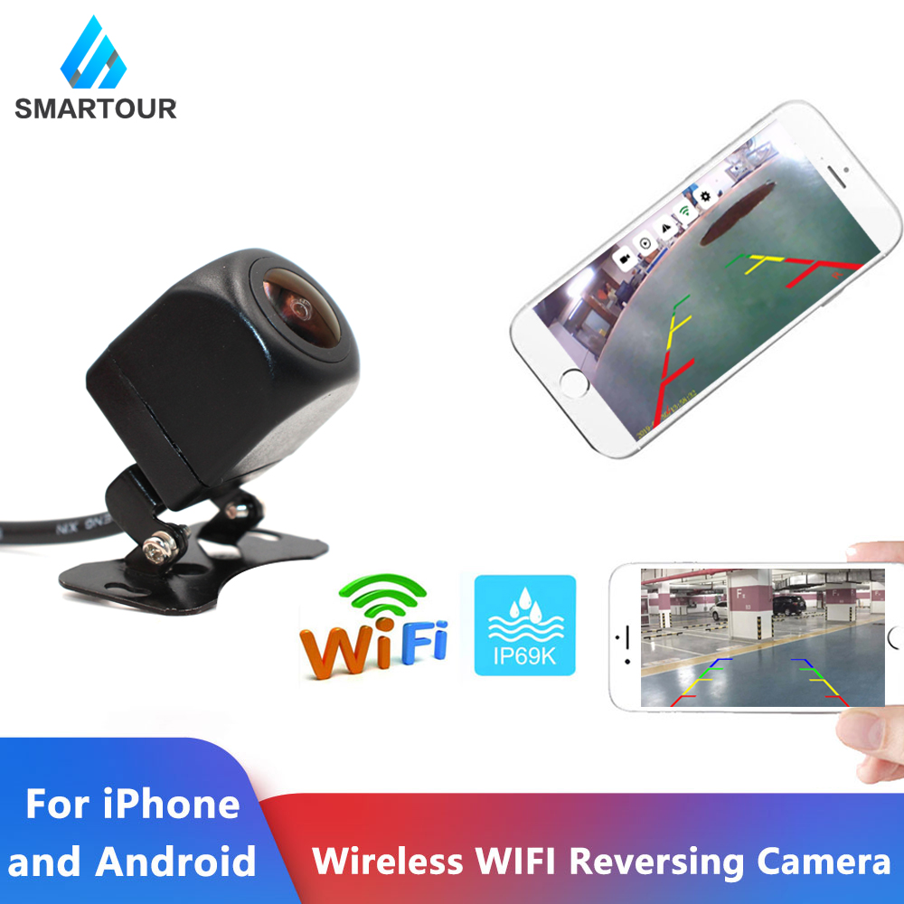 Smartour Wireless WIFI Car Rear View Reversing Backup Camera Dash Cam Star Night Vision Tachograph For IPhone And Android Ios