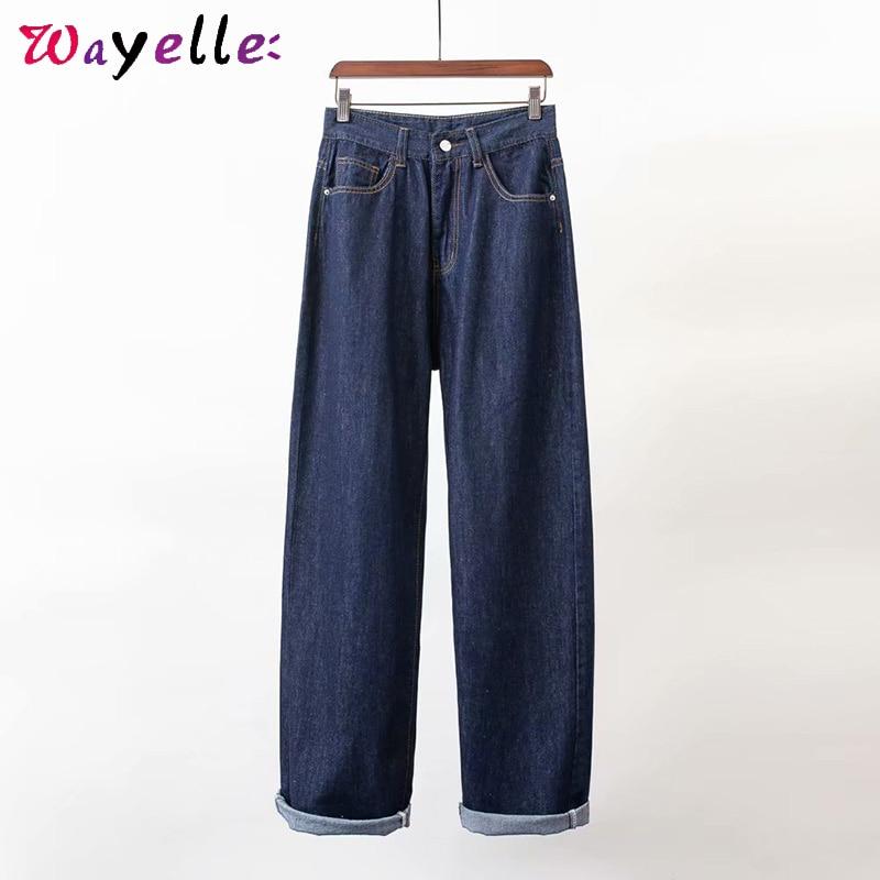 Стильные широкие брюки для мальчиков, джинсы на осень, высокая талия, свободные, уличный стиль, женские брюки, джинсы для женщин в стиле