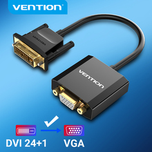 Vention DVI to VGA Adapter 1080P 24+1 25Pin Male to 15Pin Female Full HD Cable Converter for TV PC Monitor DVI D VGA Converter