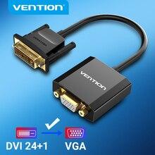 Vention DVI ל vga מתאם 1080P 24 + 1 25Pin זכר 15Pin נשי מלא HD כבל ממיר עבור טלוויזיה מחשב צג DVI D VGA ממיר