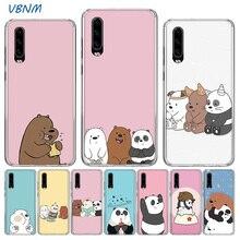 Cartoon We Bare Bears Panda Cute Soft TPU Silicone Case For Huawei P30 P20 Mate 20 10 Pro P10 lite P Smart  Z Plus + 2019 2018