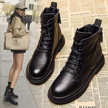 winter Ankle Boots women Shoes Cheap High Quality genuine Leather shoes  ladies casual Mujer Chaussure