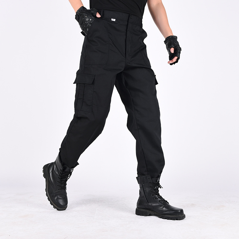 Black Cargo Pants Men Outdoor Military Trousers Casual Multi-pocket Joggers 2019 Fashion Mens Tactical Pants HD412