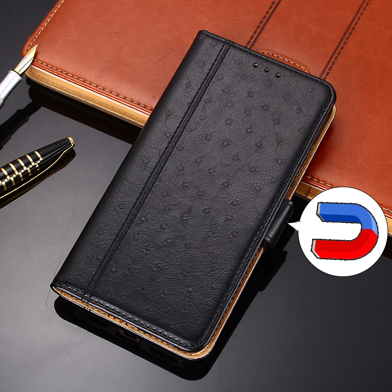 Luxury Retro case For UMIDIGI A7 Pro A3X A3S F2 F1 A5 Pro X Power 3 Magnetic Flip Wallet Case Animal texture ostrich PU Leather