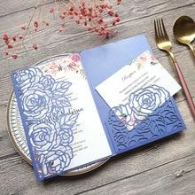 Invitation Envelope 2021 Wedding European Laser Cutting Small Fresh Creative Romantic Rose Business Invitation Greeting Card
