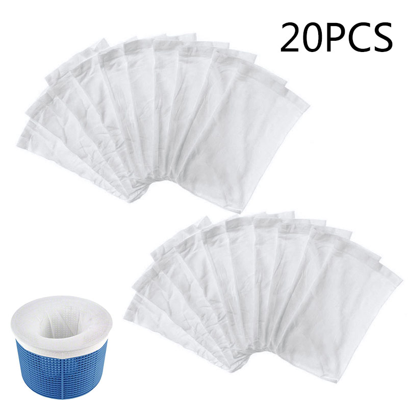 20pcs Washable Swimming Pool Filter Cartridge Foam Basket Skimmer Socks Cleaner Protector Cleaning Tools