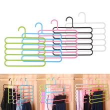 5 слоев Нескользящая многофункциональная одежда вешалки брюки вешалки для хранения вешалка для одежды многослойное хранение шарф галстук вешалка