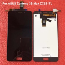 "Original 5.2"" For ASUS Zenfone 3S Max ZC521TL LCD Touch Screen Digitizer Replacement for ASUS ZC521TL LCD X00GD Pegasus Display"