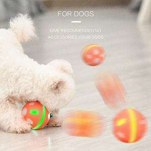 Image 4 - Pet Electric Cat Rolling Ball Toy Usb Led Ball Cat Toys Intelligence Jumping Ball Dog Toy Interactive Automatic Juguete Gato