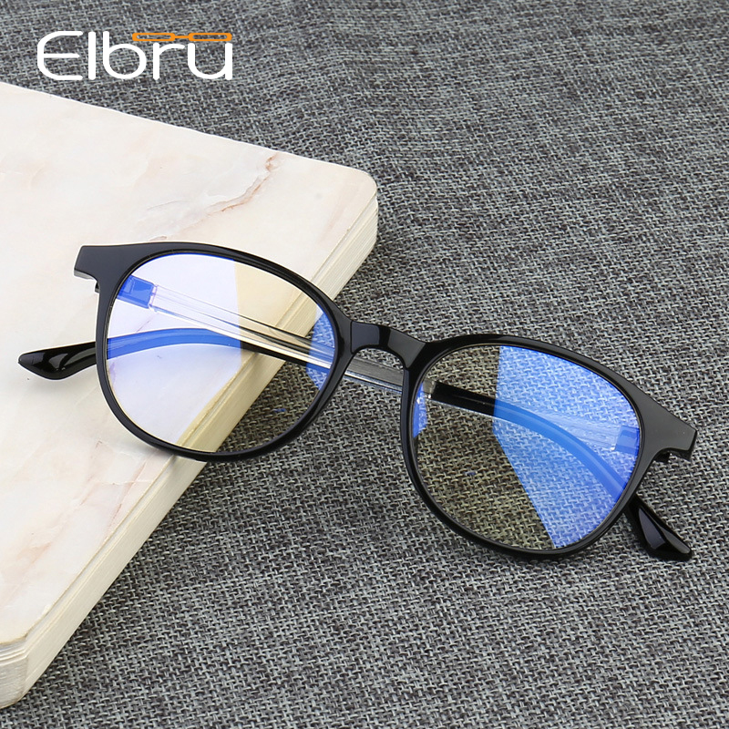 Elbru Anti Blue Light Blocking Glasses Spectacle Frames For Women Eye Protection Anti Radiation Blue-ray Computer Eyeglasses Men