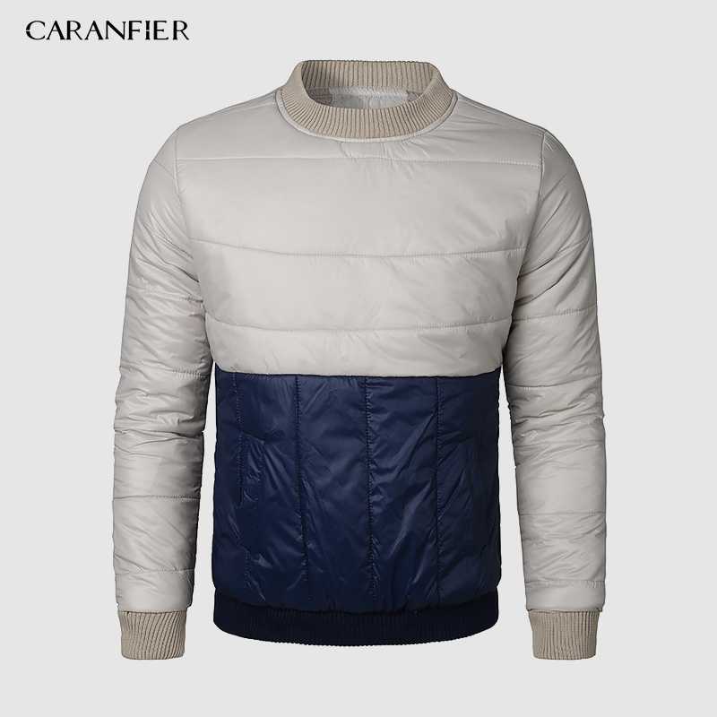 CARANFIER Winter Labor Insurance Cotton Clothing Warm Paragraph Head Mens Inner Wear Cotton Jacket Light Liner Tide Brand Winter