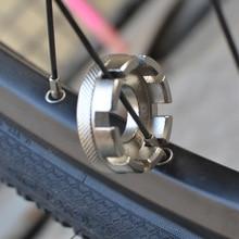 8 way Bicycle Wheel Rim Spoke Nipple Wrench Spanner Portable Bike Repair Tool bike spoke key wheel spoke wrench tool nipples bicycle repair tools bicycle accessories