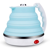 Ultrathin Upgraded Food Grade Silicone Travel Foldable Electric Kettle Boil Dry Protection Portable With Dual Voltage And Separa