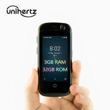 Unihertz Jelly Pro 3 ГБ + 32 ГБ, самый маленький 4G смартфон в мире, Android 8,1 Oreo разблокированный смартфон черный