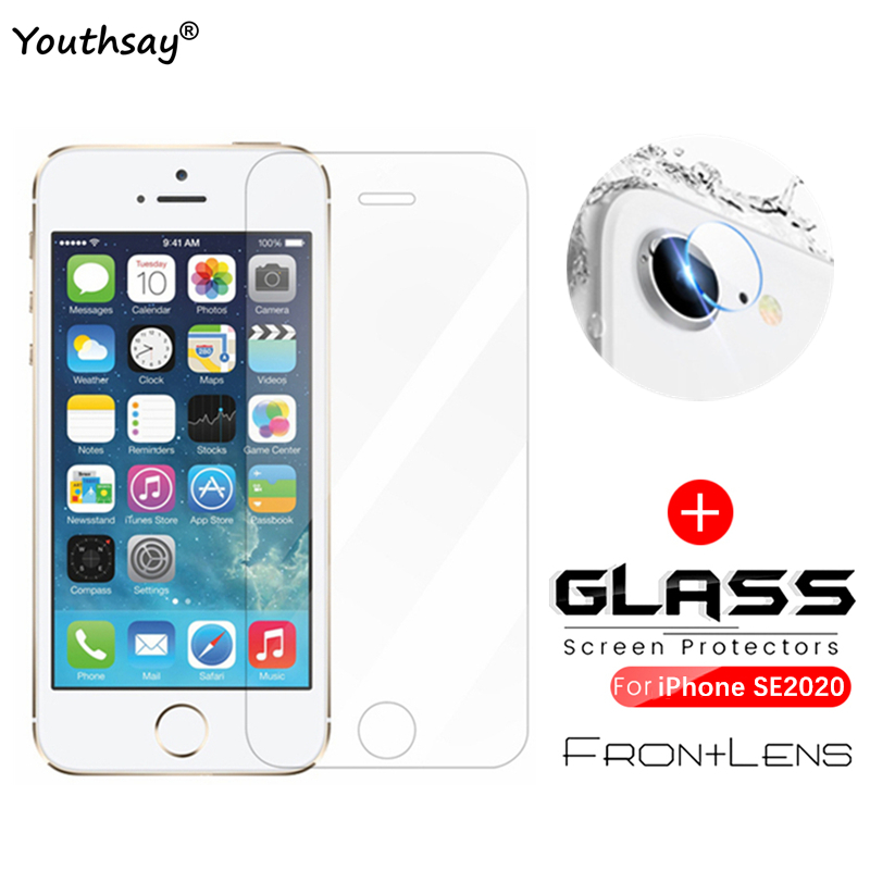 Screen Protector For IPhone SE 2020 Glass Iphonese 2020 For Apple IPhone SE 2020 Tempered Glass Camera Lens Protective Film