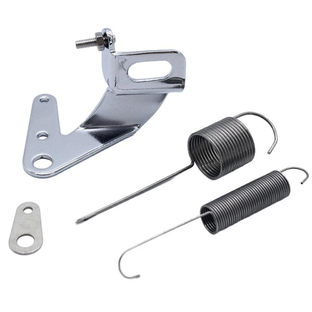 Throttle Return Spring Kit,Throttle Return Spring Car Carburetor Throttle Cable Bracket with Dual Return Spring Set Stainless Steel Parts
