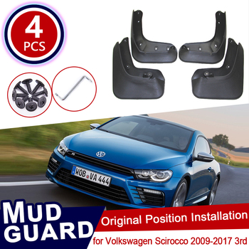 for Volkswagen VW Scirocco 2009~2017 3rd Car Mud Flaps Front Rear Mudguard Splash Guards Fender Mudflaps 2013 2014 2015 2016 image