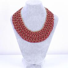 Mix Color New Bohemia Fashion Multilayers Acrylic Beads Chain Choker Pendant Necklace Wholesale Necklace Women fashion sunflower pendant short necklaces for women pearl acrylic beads necklace bohemia ethnic choker fashion jewelry wholesale
