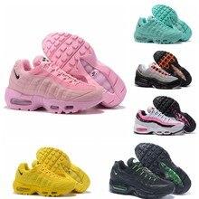 Zapatos de correr transpirables para hombre y mujer, zapatillas azules de moda, color negro, gris, blanco, rojo y negro, aniversario, Max 95 OG, novedad de 2021