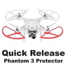 4 قطعة الإفراج السريع المروحة معدات الحماية ل DJI فانتوم 3 فانتوم 2 الطائرة بدون طيار شفرة الوفير الدعائم الجناح واقية قطع الغيار