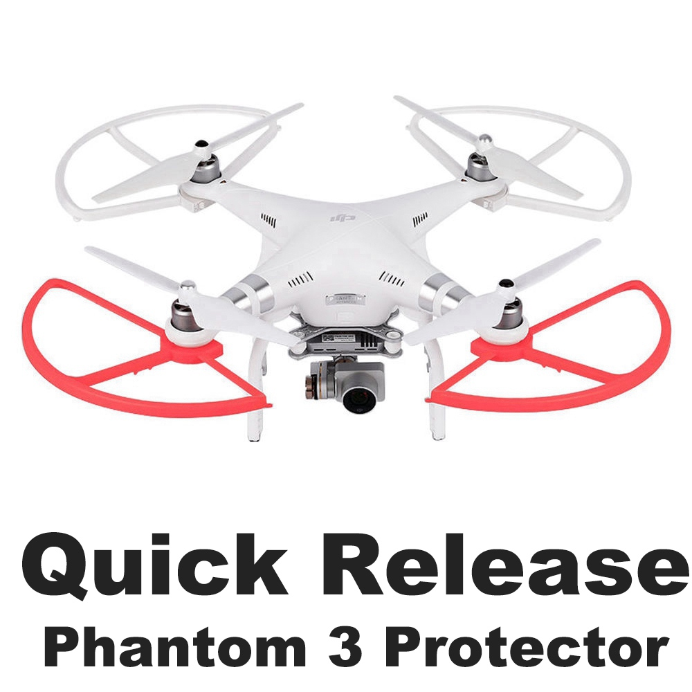 4PCS Quick Release Propeller Protector Guard For DJI Phantom 3 Phantom 2 Drone Blade Bumper Props Wing Protective Spare Parts