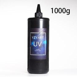 Gran gramos de resina UV ultravioleta de curado de resina solar de resina activada resina dura cura resina Kawaii arte 1000g transparente