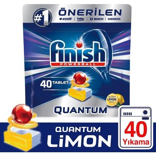 Отделка Quantum 40 таблетки для посудомоечных машин лимон вместительности