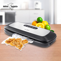 Best Electric Vacuum Sealer Machine 220V 110V With 10pcs Food Saver Bags Household Automatic Food Vacuum Packaging Machine