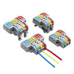Универсальный соединитель кабеля проводки PCT SPL быстрый соединитель проводов вставной проводник Клеммная колодка светодиодный светильник ...