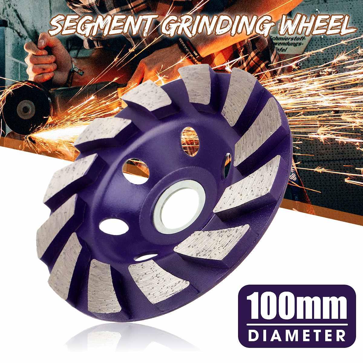 Disque pour meule diamant, 100mm, en forme de bol, béton, granit, pierre, coupe céramique, outil électrique, 1 pièce