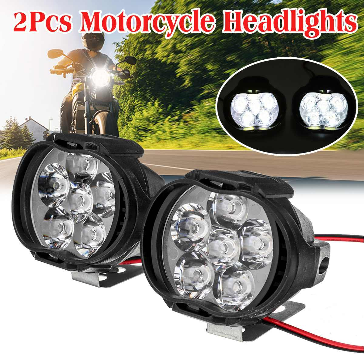 4/6/9LED 10W Car Fog Lamp LED Fog Spot Head Light Lamp Motorcycle Headlights Motorbike Driving Lighting Fog Lamp Universal