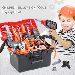 43PCS Kids Tool Set Electric Repair Screwdriver Toys Kit Simulation Pretend Play Tools With Storage Box For Children Gifts
