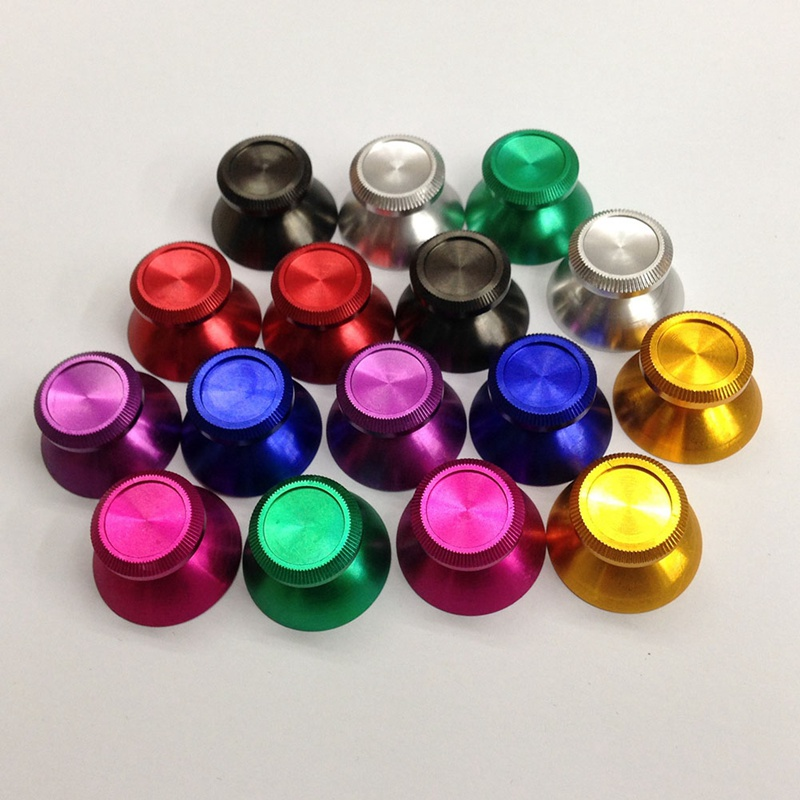 1pc Metal Analog Thumb Grips Thumbstick Cap Thumb Stick Joystick Cap Button Cover For Xbox One Controller 8 Colors