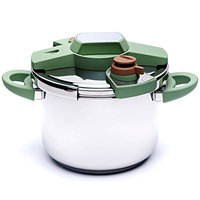 Pressure Cooker 304 Stainless Steel Soup Pot Stew Pot Gas Stove Induction Cooker Universal Kitchen Cookware Cooking Tool Pan