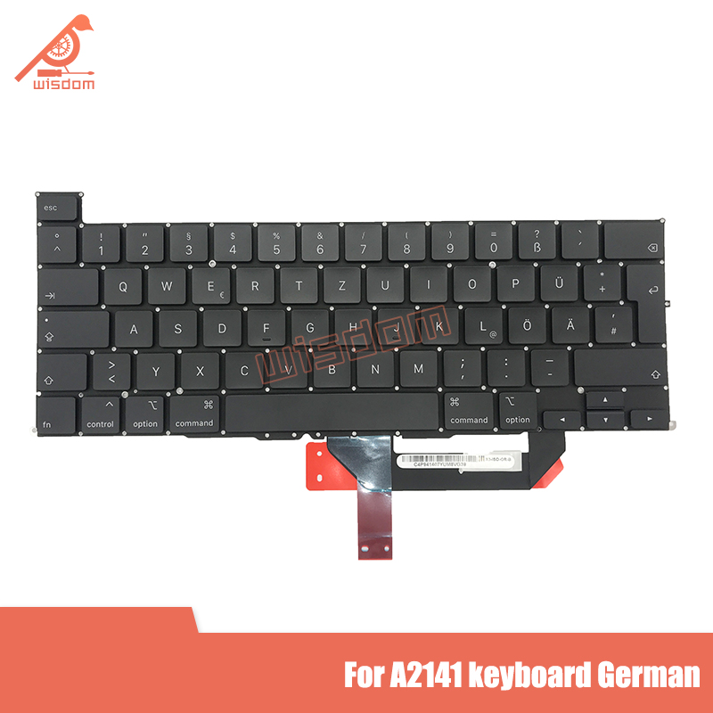 "2pcs New A2141 German Laptop Keyboard For Apple Macbook Pro 16"" A2141 Keyboard Replacement 2019 Year"