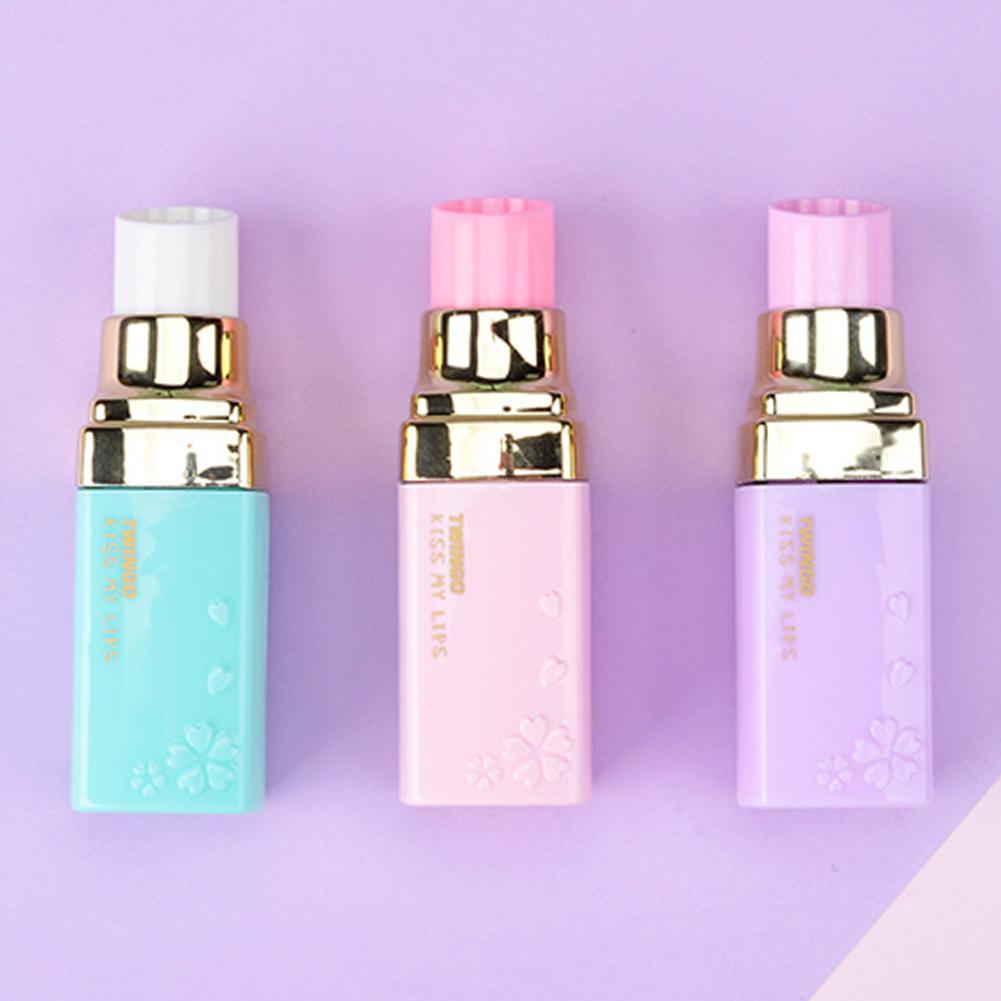 1 Piece Lipstick Shape Correction With Creative Cute Fresh Office School Supplies Little Girl M8B7