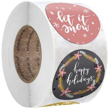 50-500 шт рождественские наклейки мультфильмы подарочные карты вечерние посылка 8 стилей запечатывание этикеток Декор вечерние принадлежности для наград ребенка