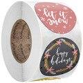 50-500 шт рождественские наклейки мультфильмы подарочные карты вечерние посылка 8 стилей запечатывание этикеток Декор вечерние принадлежнос...