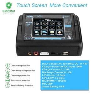 Image 3 - Em estoque htrc t150 carregador de bateria inteligente ac/dc 150w 10a com carga do equilíbrio da tela de toque para lipo lihv vida lilon nicd nimh pb b