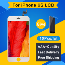 10 Pcsดี 3D Touch AAAสำหรับiPhone 6Sหน้าจอLCD Touch DigitizerจอแสดงผลReplacement WhiteสีดำฟรีDHL