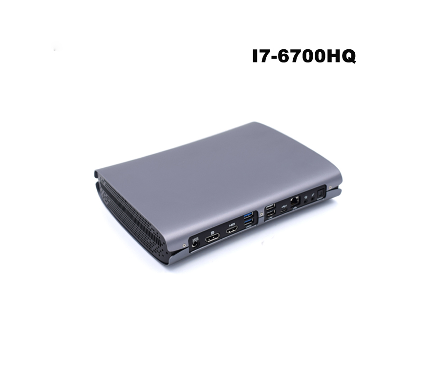 China Mini PC Windows 10 Intel Core I7-6700HQ 16GB RAM DDR 4 2xM.2 SSD Type-C  5G Wifi HDMI DP HTPC Gaming Pc Desktop Computer