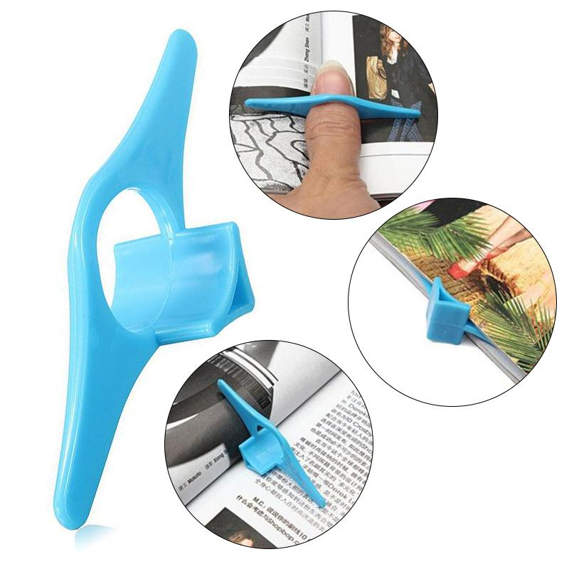 4PCS Multifunction Thumb Book Marker Bookmarks Page Holder Finger Ring Reading Assistant Book Support Blue Wholesale