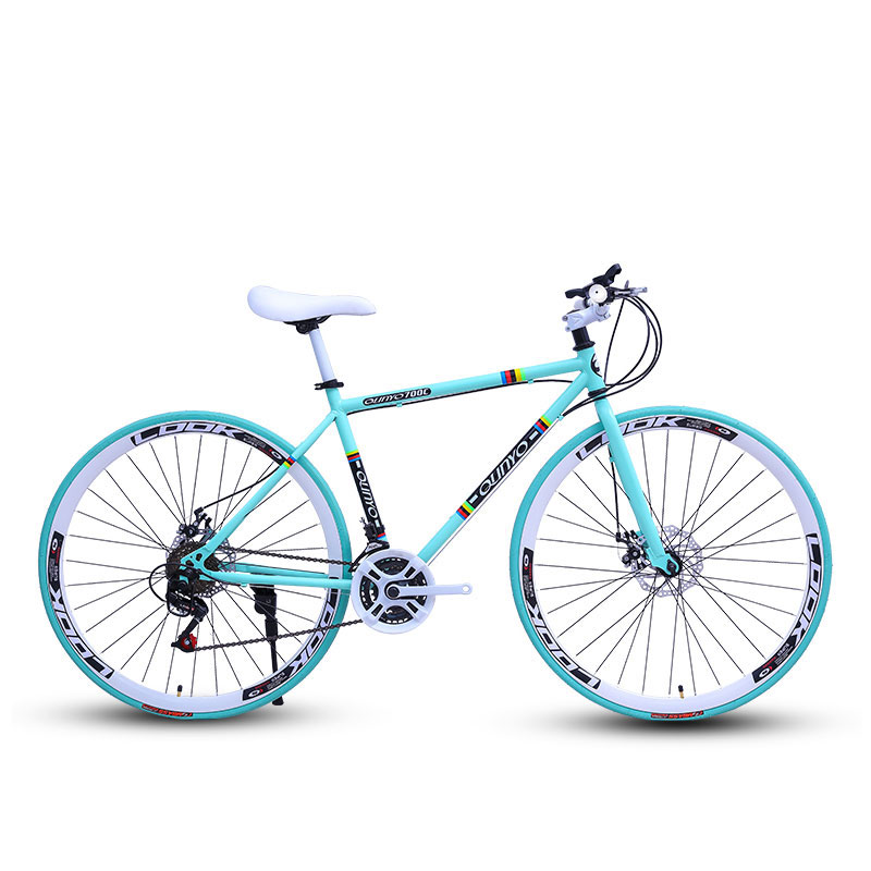 Bicycle Fixed Gear Bicycle 24 Speed 40 Knife Double Disc Brakes Men And Women Adult Bicycle Road Racing